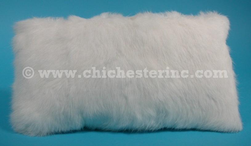 white fur pillows
