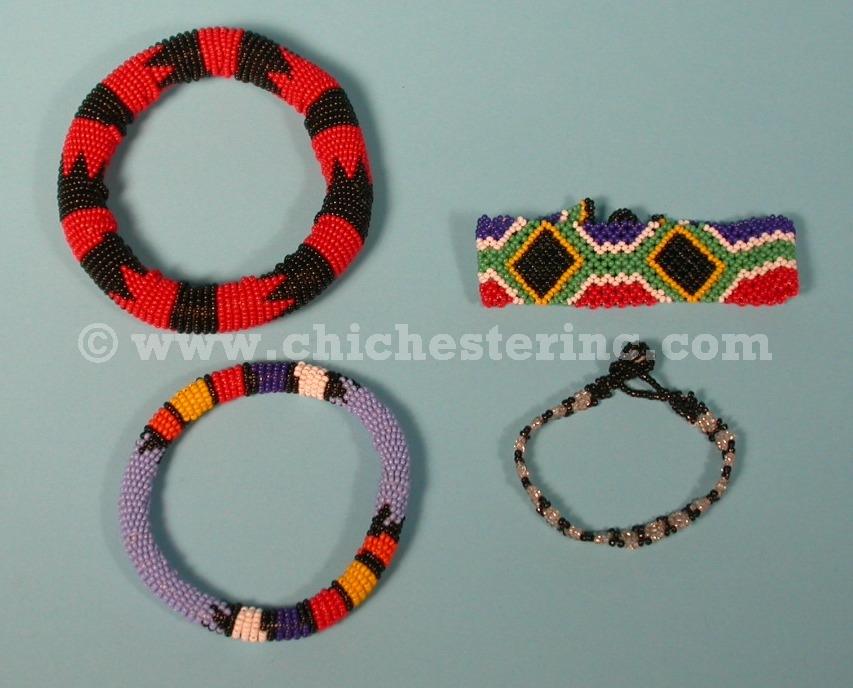 zulu beaded jewelry necklaces bracelets aids pins