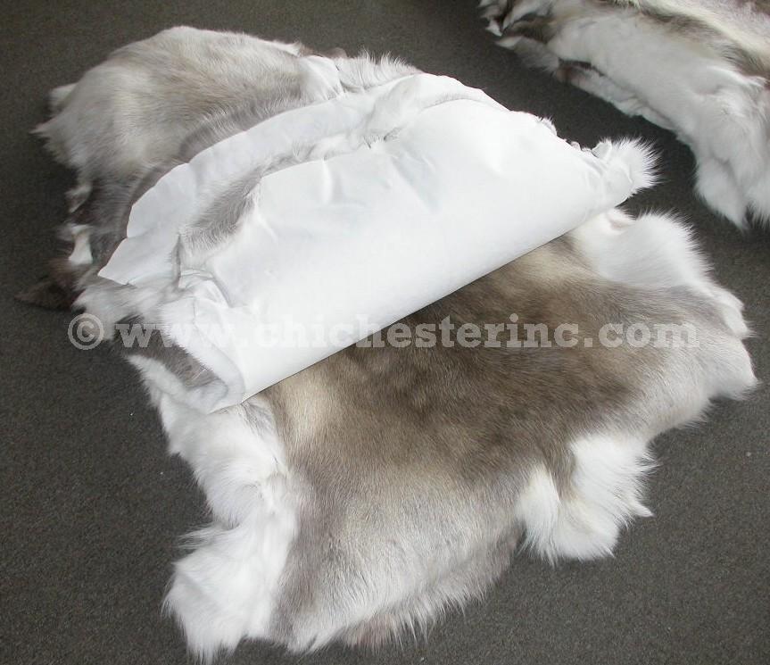 Caribu Dog Rug: Reindeer Skins Or Reindeer Hides Or Reindeer Pelts Or
